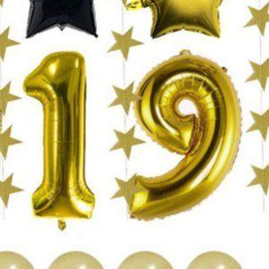 PARTY!!! balloon set 19 & 20th birthday